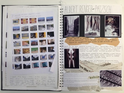 Gcse art and photography sketchbook examples by gdoolan84.
